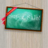 Back to school, written with chalk. EPS10 Royalty Free Stock Image