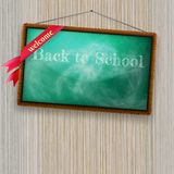 Back to school, written with chalk. EPS10 Royalty Free Stock Images
