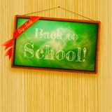 Back to school, written with chalk. EPS10 Royalty Free Stock Photography