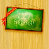 Back to school, written with chalk. EPS10 Stock Photography