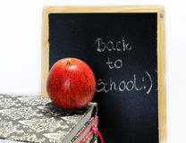 Back to school written on chalkboard Royalty Free Stock Photography