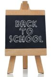 Back to school written on chalkboard Stock Photo
