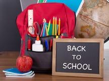 BACK TO SCHOOL Written on a Chalkboard Royalty Free Stock Photos