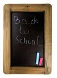 Back to school written on chalkboard Royalty Free Stock Photos
