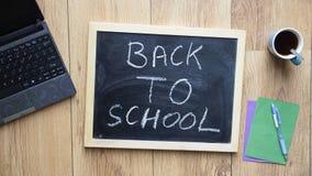 Back to school written Stock Photo