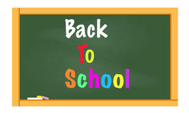 Back to school written on chalkboard vector Stock Photo