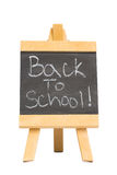 Back to school written on chalkboard Royalty Free Stock Photo