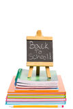 Back to school written on chalkboard Royalty Free Stock Photos