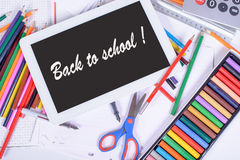 Back to school written on a digital tablet Royalty Free Stock Photo
