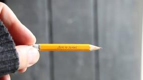 Back to School - written in pencil stock video footage
