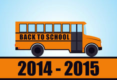 Back to school. Yellow school bus Royalty Free Stock Images
