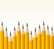 Back to school yellow pencil pattern Stock Photos