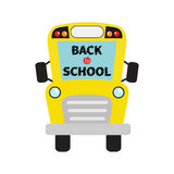 Back to school. Yellow school bus kids. Cartoon clipart. Royalty Free Stock Images