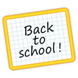 Back to school ! Yellow slate. Stock Images