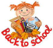 Back to scool vector illustration