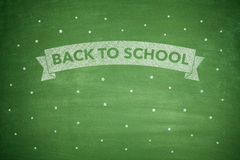 Back to shool on blacboard Royalty Free Stock Image