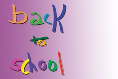 Back to shool board stock images