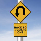 Back to Square One Royalty Free Stock Image