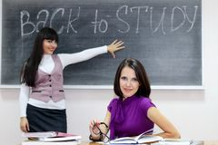 Back to study Royalty Free Stock Photos
