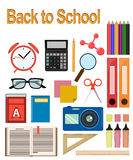 Back to study. Objects for school. Stock Photo