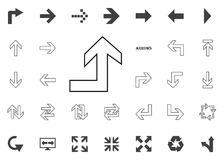 Back to the up arrow icon. Arrow illustration icons set. Back to the up arrow icon. Arrow illustration icons set vector illustration