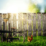 Back to the village! Abstract rural backgrounds Royalty Free Stock Image