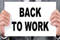 Back to work Stock Photo