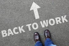 Back to work working vacation holiday holidays unemployed busine Stock Image
