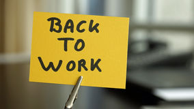 Back to work Royalty Free Stock Photo