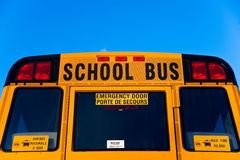 Back Top Half of School Bus Royalty Free Stock Images