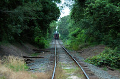 Back of train stock photography