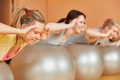 Back training at pilates class Stock Image