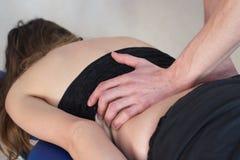 Back treatment Stock Image