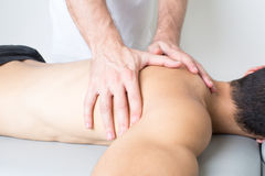 Back treatment Royalty Free Stock Photo