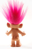 Back Troll with pink hair Stock Image