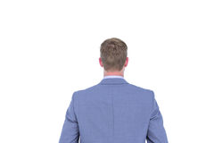 A back turned businessman on a background Royalty Free Stock Photo