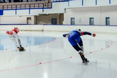 back two athletes skater Royalty Free Stock Photography