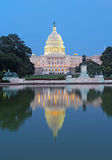 Back of the United States Capitol building and reflecting pool Stock Photography
