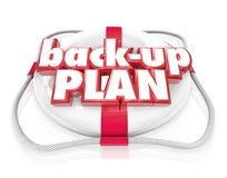 Back-Up Plan Life Preserver Words Alternate Planning B vector illustration
