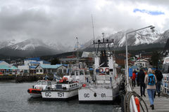 Back in Ushuaia in a bad weather Stock Photo