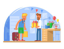 Back from Vacation Concept Illustration Royalty Free Stock Photography