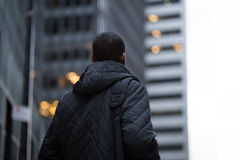 Back view of African American professional in the city Royalty Free Stock Photography