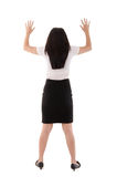 Back view of asian business woman Royalty Free Stock Photo