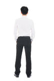 Back view of a Asian businessman isolated on white background Royalty Free Stock Photography