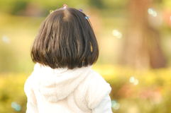 Back view of an asian little girl. Back view of a little Asian girl Royalty Free Stock Photography