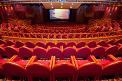Back view of auditorium Stock Photo