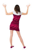 Back view of of beautiful brunette woman Royalty Free Stock Photos