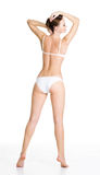 Back view of  beautiful slim female body Royalty Free Stock Image