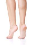 Back view of beautiful slim female legs Stock Photo