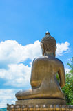 Back view big Buddha statue of thailand Stock Image
